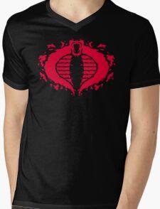 Cobrorschach  (red) Mens V-Neck T-Shirt