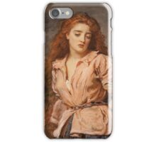 John Everett Millais - The Martyr Of The Solway. Woman portrait: sensual woman, girly art, female style, pretty women, femine, beautiful dress, cute, creativity, love, sexy lady, erotic pose iPhone Case/Skin