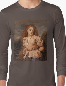 John Everett Millais - The Martyr Of The Solway. Woman portrait: sensual woman, girly art, female style, pretty women, femine, beautiful dress, cute, creativity, love, sexy lady, erotic pose Long Sleeve T-Shirt