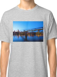 Impressions of London - Millennium Bridge and St. Paul's Cathedral Classic T-Shirt