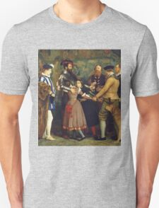 John Everett Millais - The Ransom. Family portrait: father and son, mother and daughter, female and male, dad daddy, child baby, beautiful dress, lovely family, mothers day, memory, mom mam, friends Unisex T-Shirt