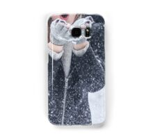 Young woman winter portrait Samsung Galaxy Case/Skin