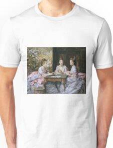 John Everett Millais - Hearts Are Trumps 1872. Woman portrait: sensual woman, girly art, female style, pretty women, femine, beautiful dress, cute, creativity, love, sexy lady, erotic pose Unisex T-Shirt