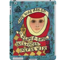 Game She Could Never Win--Chess iPad Case/Skin