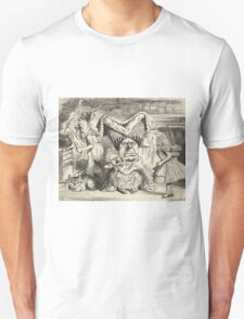 John Tenniel - The Duchess With Her Family, From  Alice S Adventures In Wonderland. Girl portrait: cute girl, girly, female, pretty angel, child, beautiful dress, smile, little, kids, baby Unisex T-Shirt