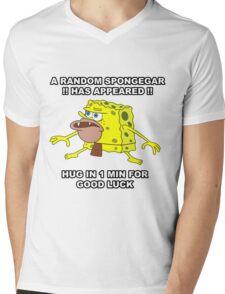 SPONGEGAR Mens V-Neck T-Shirt