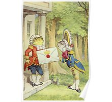 John Tenniel - The Fish-Footman Alice In Wonderland. Insects painting: cute bee, fly, bugs, lucky, pets, wild life, animal, butterfly, little small, insects, nature Poster