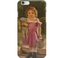 John George Brown - Going To The Spring 1865. Female child portrait: cute baby, kid, children, pretty angel, child, kids, lovely family, boys and girls, boy and girl, mom mum mammy mam, childhood iPhone Case/Skin