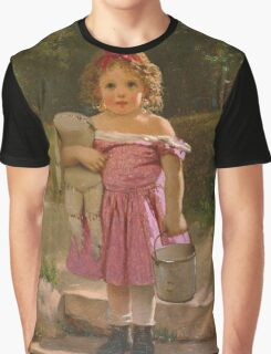 John George Brown - Going To The Spring 1865. Female child portrait: cute baby, kid, children, pretty angel, child, kids, lovely family, boys and girls, boy and girl, mom mum mammy mam, childhood Graphic T-Shirt
