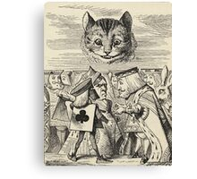 John Tenniel - The King Of Hearts Arguing With The Executioner, From  Alice S Adventures In Wonderland. Cat portrait: cute cat, kitten, kitty, cats, pets, wild life, animal, smile, little, kids, baby Canvas Print