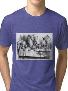 John Tenniel - The Mad Hatter, Illustration From  Alice S Adventures In Wonderland .  Tri-blend T-Shirt