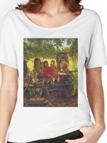 John George Brown - The Cider Mill. Female child portrait: cute girl, girly, female, pretty angel, child, beautiful dress, face with hairs, smile, little, kids, baby Women's Relaxed Fit T-Shirt