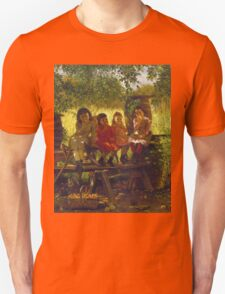 John George Brown - The Cider Mill. Female child portrait: cute girl, girly, female, pretty angel, child, beautiful dress, face with hairs, smile, little, kids, baby Unisex T-Shirt