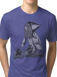 Hooded Girl Tri-blend T-Shirt
