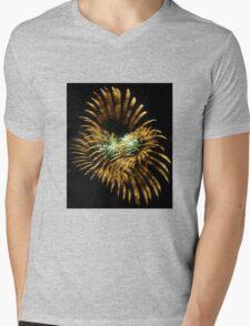 Abstract Light Mens V-Neck T-Shirt