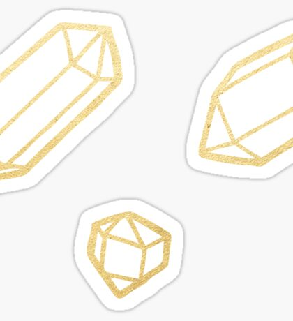 Gold and White Gemstone Pattern Sticker
