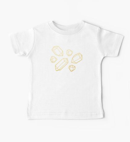Gold and White Gemstone Pattern Baby Tee