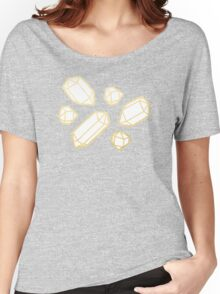 Gold and White Gemstone Pattern Women's Relaxed Fit T-Shirt