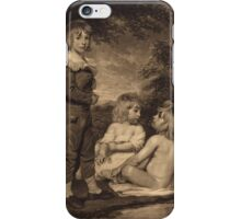 John Hoppner - Children Bathing (The Hoppner Children) 1804. Child portrait: cute baby, kid, children, pretty angel, child, kids, lovely family, boys and girls, boy and girl, mom mum mam, childhood iPhone Case/Skin