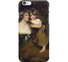John Hoppner - The Countess Of Darnley And Her Daughter, Lady Elizabeth Bligh  1795. Mother with kid portrait: cute girl, mother and daughter, female, pretty angel, child, beautiful lovely family iPhone Case/Skin