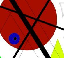 lignes, cercles, triangle #1 Sticker