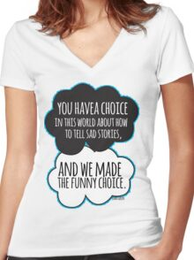 Funny Choice Women's Fitted V-Neck T-Shirt