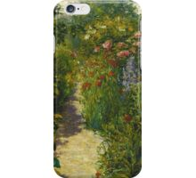 John Leslie Breck - Garden At Giverny (In Monet S Garden). Garden landscape: garden view, trees and flowers, blossom, nature, botanical park, floral flora, wonderful flowers, garden, flower iPhone Case/Skin