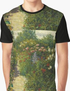 John Leslie Breck - Garden At Giverny (In Monet S Garden). Garden landscape: garden view, trees and flowers, blossom, nature, botanical park, floral flora, wonderful flowers, garden, flower Graphic T-Shirt