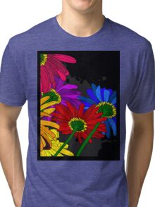 Flowers - Framed T-shirt Tri-blend T-Shirt