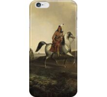 John Mix Stanley - Black Knife, An Apache Warrior. Hunter painting: hunting man, nature, male, forest, wild life, masculine, dogs, hunt, manly, hunters men, hunter iPhone Case/Skin