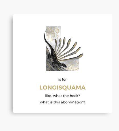 L is for Longisquama Canvas Print
