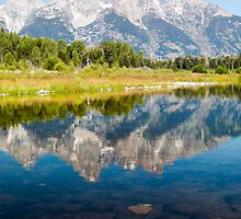 Majestic Reflection - Grand Teton National Park by Kenneth Keifer