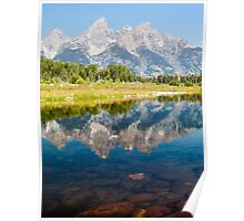 Majestic Reflection - Grand Teton National Park Poster