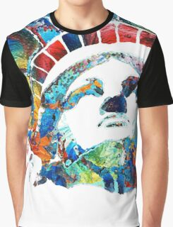 Colorful Statue Of Liberty - Sharon Cummings Graphic T-Shirt