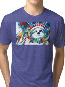 Colorful Statue Of Liberty - Sharon Cummings Tri-blend T-Shirt