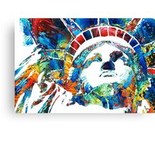 Colorful Statue Of Liberty - Sharon Cummings Canvas Print