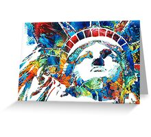 Colorful Statue Of Liberty - Sharon Cummings Greeting Card