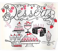 Sweet And Lovely Desserts Poster
