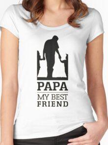 papa - my best friend Women's Fitted Scoop T-Shirt