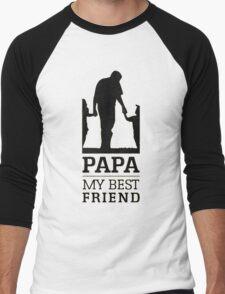 papa - my best friend Men's Baseball ¾ T-Shirt