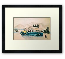 Into the Wild Magic Bus Painting Framed Print