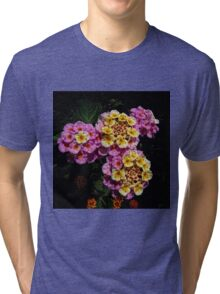 Pink and Yellow Blooms Tri-blend T-Shirt