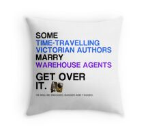 Some Victorians marry Warehouse agents Light Version. Throw Pillow