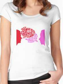 man & woman Women's Fitted Scoop T-Shirt