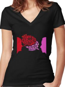 man & woman Women's Fitted V-Neck T-Shirt