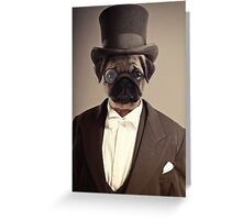 (Very) Distinguished Dog Greeting Card