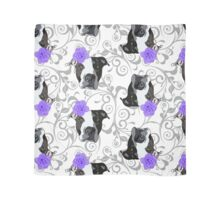 Murphy and the Purple Rose over Damask Scarf