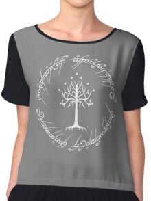 White Tree of Gondor (Ring) Chiffon Top