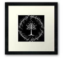 White Tree of Gondor (Ring) Framed Print