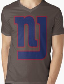 NJ GIANTS Mens V-Neck T-Shirt